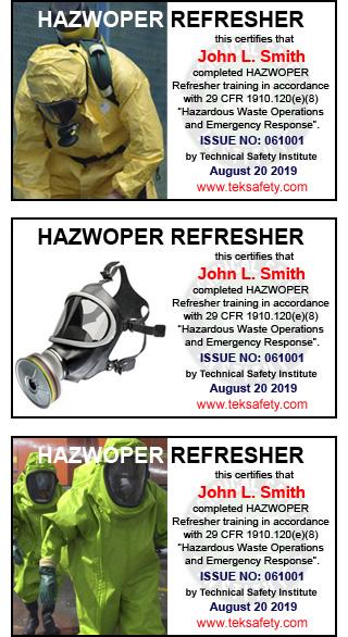 8 Hour HAZWOPER Refresher Online | 8 Hr, 24 Hr, 40 Hr OSHA Course