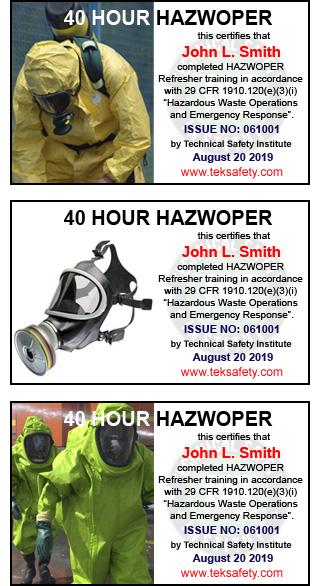 40 Hour OSHA HAZWOPER Training Online | 8 Hr, 24 Hr Course